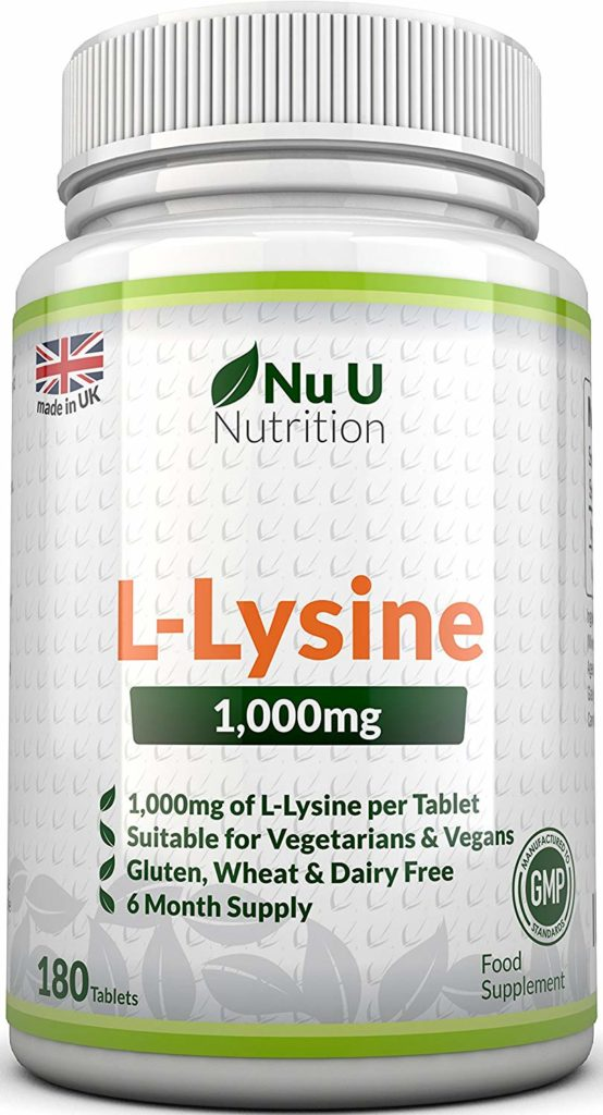 L-lysine 1000mg 180 tablets for cold sores